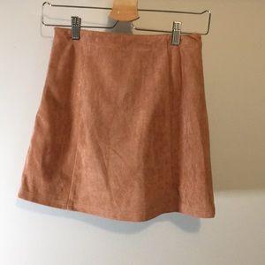 HYFVE Skirts - Von Maur mauve/pink lace up mini skirt